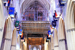 Safway Haki spans and QuikDeck in NationalCathedral