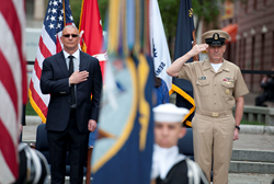 Chef, Robert Irvine, Chef Robert Irvine, Restaurant Impossible, Navy, U.S. Navy, British Royal Navy, Navy Memorial, Honorary Chief Petty Officer, Navy Ceremony, Troops, Marines, Military, U.S. military, Service men, Service women, Military support, Robert