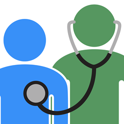 The icon for the new Certified Medical Examiner Test Prep app by Upward Mobility