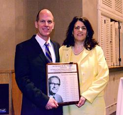 Dr. John Kestle, Robert H. Pudenz Award Recipient, with Dawn Mancuso, CEO Hydrocephalus Association
