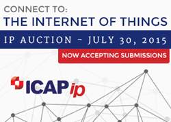 ICAP Patent Brokerage Internet Of Things Auction July 30, 2015