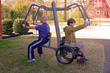 Accessible products like the GTfit Chest Press create outdoor fitness opportunities for adults of all abilities and fitness levels.
