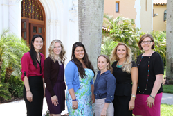 Stetson's FAWL executive board 2014-2015 L-R: Katie Salemi, Jessica Ford, Brittany Jones, Courtney Cox, Ellen Fichtelman and Joann Grages Burnett.