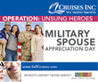 In Celebration of Military Spouse Appreciation Day, Cruises Inc....