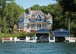 Six-Bedroom Lakefront Estate on 1.82 Acres With Rare Walk-Out Water Access Offered with No Minimum Bid and No Reserve