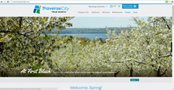Spring Landing Page for Traverse City's new Official Website