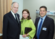 Ronald S. Lauder and Jo Carole Lauder with Joseph Sweeny, MD, Medical Director of the new Lauder Family Cardiovascular Ambulatory Center.