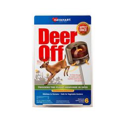 Deer Off® Deer Repellent is the only one of its kind with a patented weatherproof housing that protects the repellent from the elements, allowing you to apply it just once per growing season.