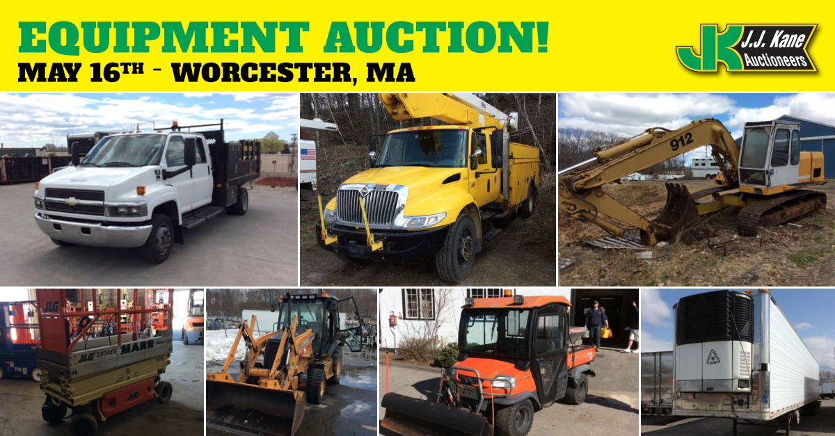Public Car And Equipment Auction, Worcester, MA, May 16, 2015