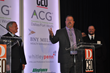 Don Riggs, CEO of Future Telecom accepts the Deal of the Year Award for deals under $50 Million during Dallas ACG M&A Awards