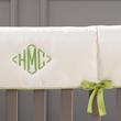 monogrammed crib rail cover