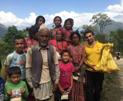 The volunteers have passed out hundreds of meal packs in villages that have received no other relief.