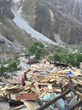 One of the valleys in Nepal showing the destruction following the earthquake.