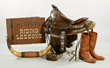 Saddle, Boots and Collection of Rex's Memorabilia