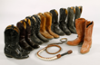 Collection of Rex's Boots and Bullwhip