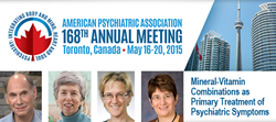 American Psychiatric Association Symposium to Feature Micronutrient Treatments