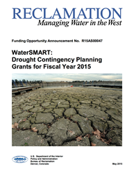 Drought Contingency Planning FOA Cover Sheet