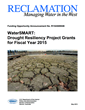 Drought Resiliency Project FOAs Cover Sheet