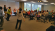 Photo of a recent Advantage Improv training at the headquarters of a Fortune 1000 client.
