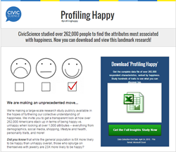 "CivicScience's ""Profiling Happy"" research study"