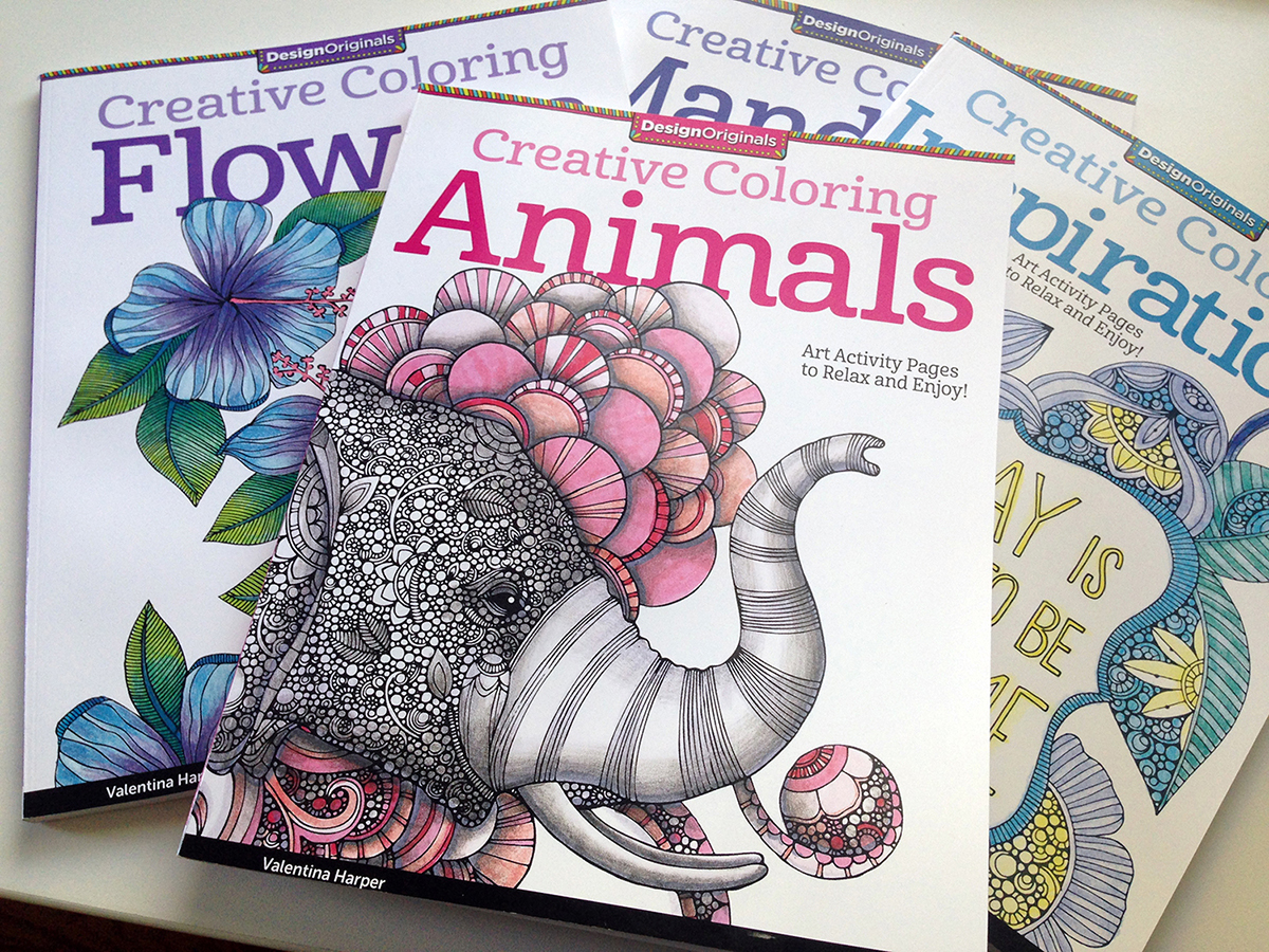 Artist Valentina Harpers Popular Coloring Book Series Now Available On Amazon