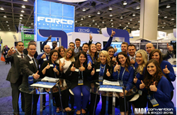 John Fitzpatrick and the Force Marketing team at the 2015 NADA Convention & Expo