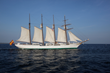 The Juan Sebastian de Elcano makes its way into Pensacola in 2009.
