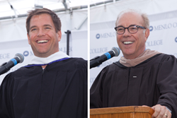 Speakers at Menlo College Commencement 2015