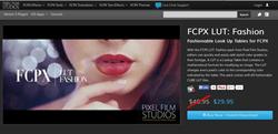 FCPX LUT Fashion Plugin from Pixel Film Studios