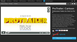 ProTrailer Cartoon Plugin from Pixel Film Studios
