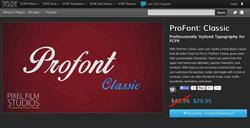 ProFont Classic Plugin from Pixel Film Studios