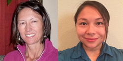 New ALOHA center directors Hali Haussmann (CA) and Elena Mueller (TX)