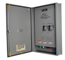 PowerGATE™ ReadySwitch™ Power Input Panel with Integrated Manual Transfer Switch for emergency power management.