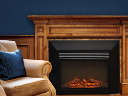 Retrofit a wood or gas burning fireplace with the energy efficient Ingleside Electric Fireplace.