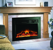 Easily convert a wood burning fireplace into an electric fireplace with the Touchstone Ingleside Electric Fireplace Insert.