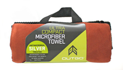 microfiber towel, outgo, mcnett tactical, silver antimicrobial, compact towel
