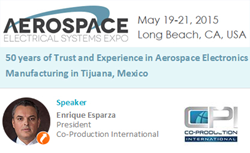 Enrique Esparza, Free Sessions Program at Aerospace Electrical Systems Expo - May 20, 3:50pm