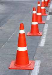 Traffic cones - on obstacle course