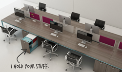 Parsons Table, open plan, desking, office furniture, benching, NIGEL, Innovant