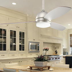 ceiling fan, kitchen lighting