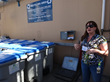 Cheri Chastain, Sustainability Coordinator, Sierra Nevada Brewing Co. explains the recycling program during USZWBC & Sierra College CACT training in 2014.