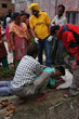 An Indian medical doctor who is also a Scientology Volunteer Minister showed people how to perform a simple Scientology assist, to help speed healing of physical and emotional trauma.