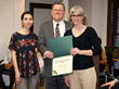Mayor Jud Ashman presents Zosimos Botanicals with its 7th annual Environmental Award
