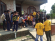 Children in an orphanage outside Kathmandu, Nepal, perform songs for Scientology Disaster Response Team volunteers who delivered aid and comfort in the wake of the nation's devastating earthquake.