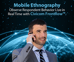 "Civicom FrontRow™ Webinar Features Latest ""In The Moment"" Experience for Researchers"