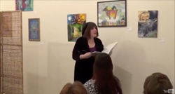 Poet Lorraine reads her poetry on Cecilia Payne as part of Human Voices