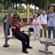 Accessible products like the Chest Press provide fitness opportunities for adults of all abilities.