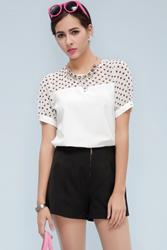 rompers, sleeveless, cute, pattern, Polka Dot