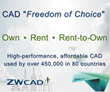 "ZWCADUSA Announces CAD-first  ""Freedom of Choice"" Payment Options"