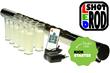 shot glass holder, shot glass, display, rack, board, L.E.D product, bar product, bar equipment, kickstarter, crowdfunding, new, gadget, nightclub, liquor, shooters, merchandising, alcohol, promotion, beverage, bar